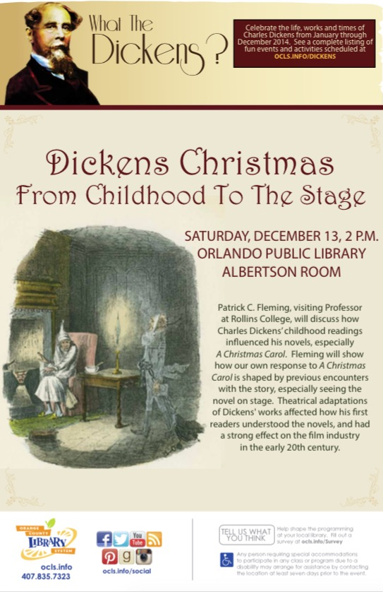 Poster for Dickens Christmas Talk